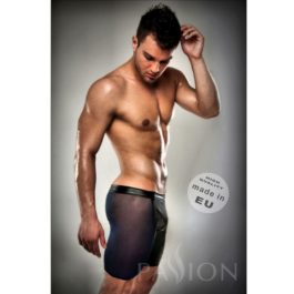 BOXER NEGRO 026 TRANSPARENTE LARGO LEATHER L/XL